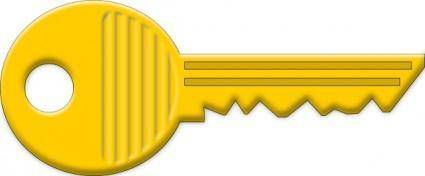 free vector Yellow Key clip art