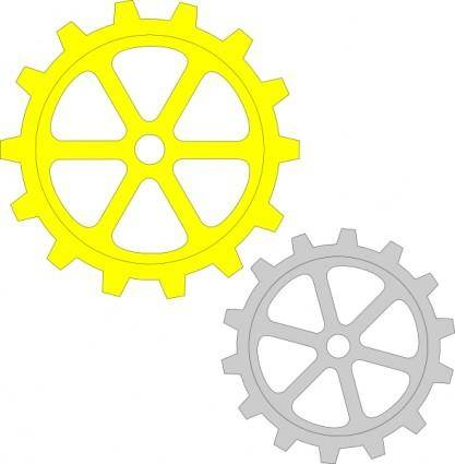 free vector Separate Gears clip art