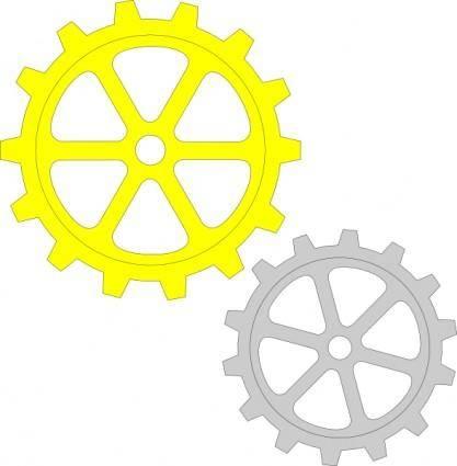 Separate Gears clip art
