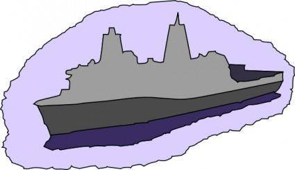 Transport Dock Ship clip art