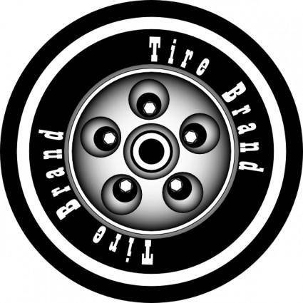 Azieser Tire With Rim clip art