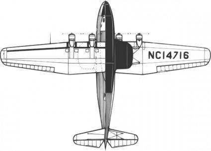 free vector Martin M Flying Boat clip art