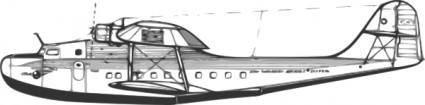 Martin M Flying Boat clip art