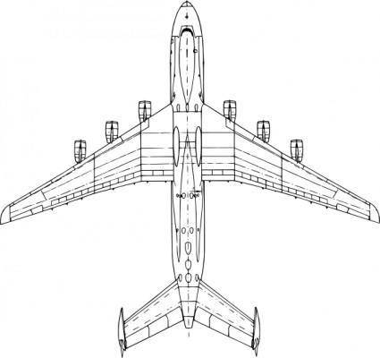 free vector Top View Antonov An Mria clip art