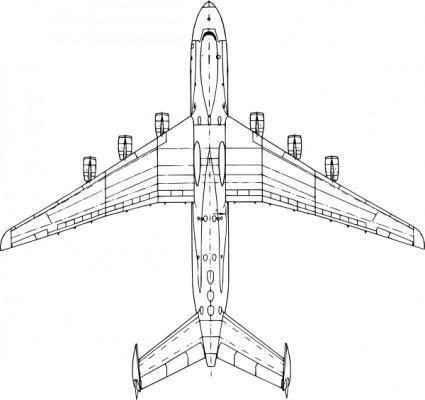free vector Top View Antonov An Mria clip art