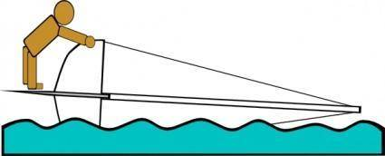 Capsized Sailing Illustration 6 clip art