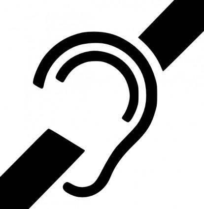 Deaf Symbol clip art