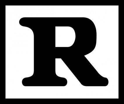 Rated R clip art