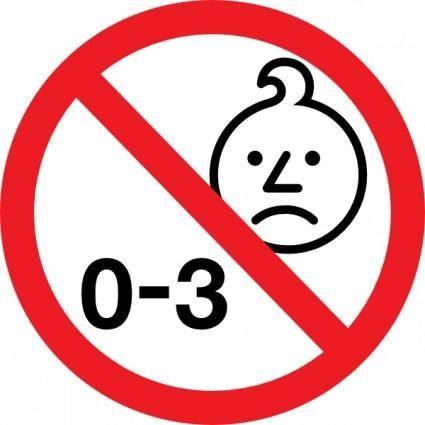 free vector Age Warning Symbol clip art