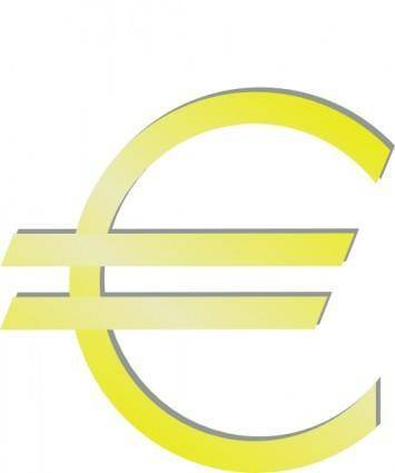Euro Financial Symbol clip art