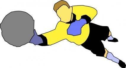 Soccer Goal Keeper clip art