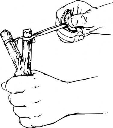Slingshot clip art