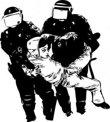 free vector Policebrutality clip art