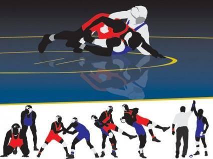 free vector Wrestling clip art