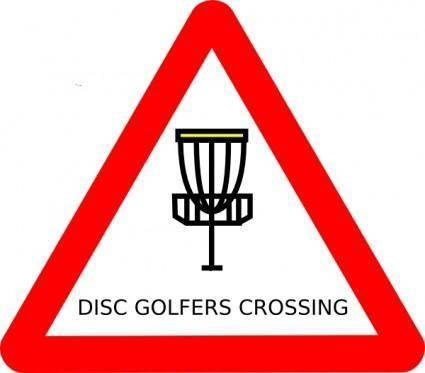 free vector Mat Cutler Disc Golf Roadsign clip art