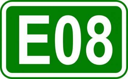 Street Sign Label E08 clip art
