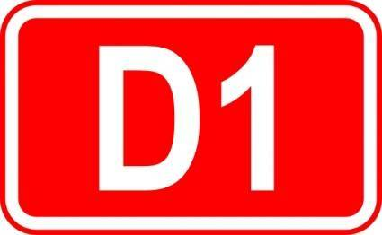 Street Sign Label D1 clip art