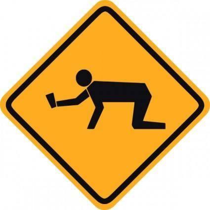 Student Sign Warning clip art
