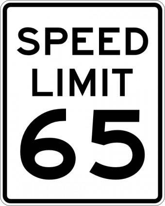 free vector Speed Limit 65 clip art
