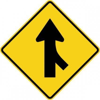 Merge Sign clip art