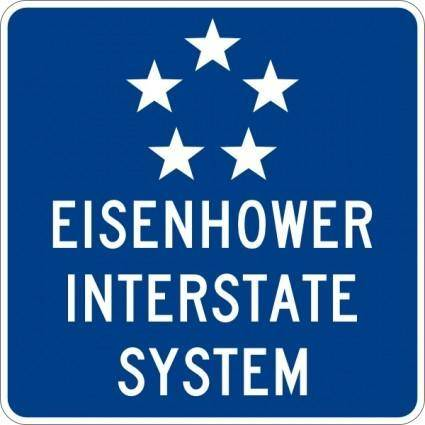 free vector Eisenhower Interstate System clip art