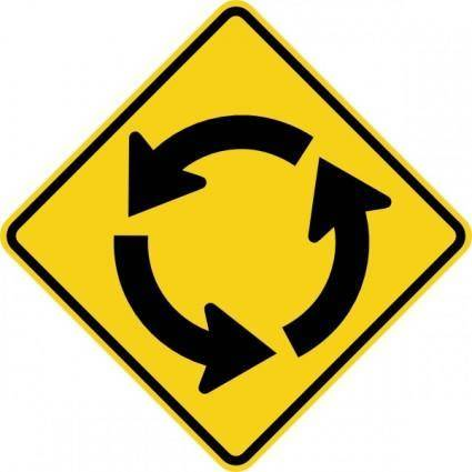 Circular Intersection Sign clip art