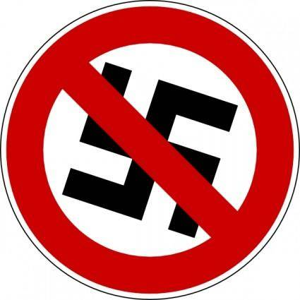 free vector No Nazis clip art
