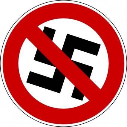 No Nazis clip art