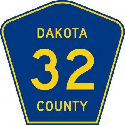 free vector Highway Sign Dakota County Route 32 clip art