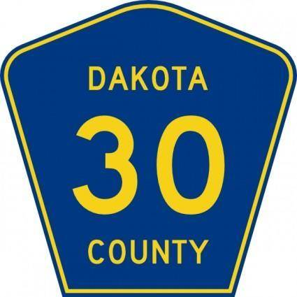 free vector Dakota County Route 30 clip art