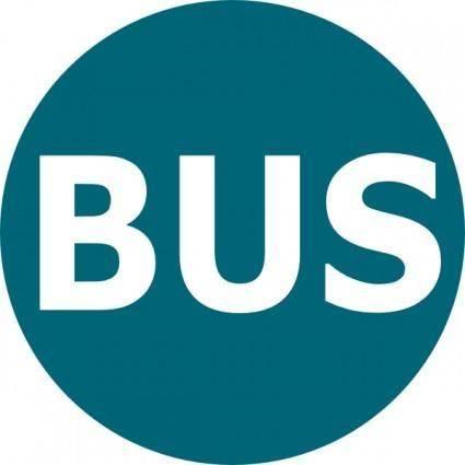 Bus Logo Blau clip art
