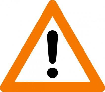 Warning Yield Sign clip art
