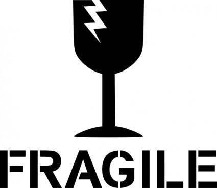 Fragile Sign clip art
