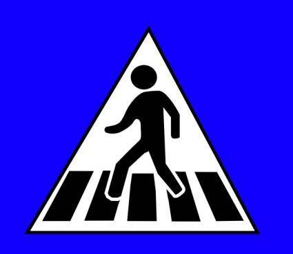 Peds Xing Sign clip art