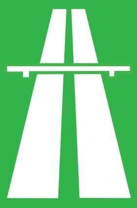 free vector Highway Traffic Sign clip art