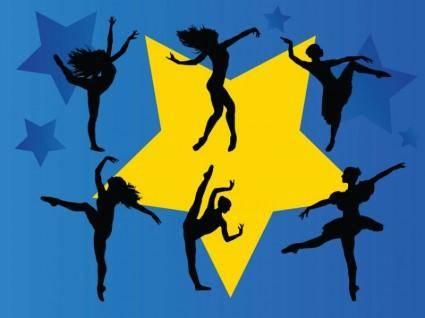 free vector Dancing Stars