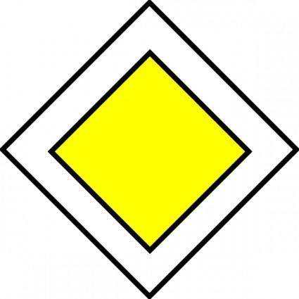 Priority Road Traffic Sign clip art