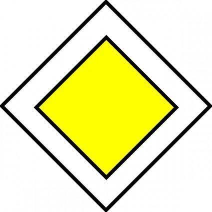 Priority Road Traffic Sign clip art