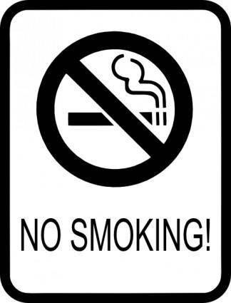 free vector No Smoking Sign clip art