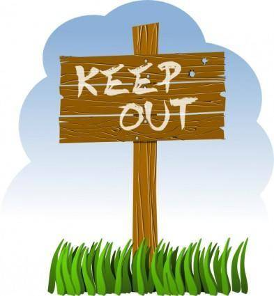 Keep Out clip art