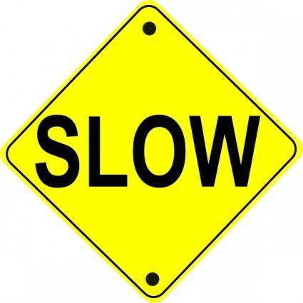 free vector Slow Road Sign clip art
