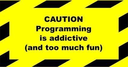 free vector Portablejim Programming Addictive Sign clip art