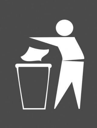 Trash Bin Sign clip art