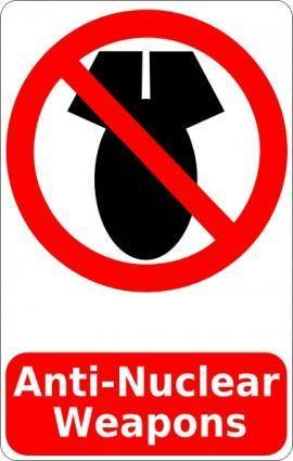 Cibo Anti Nuclear Weapons Sign clip art