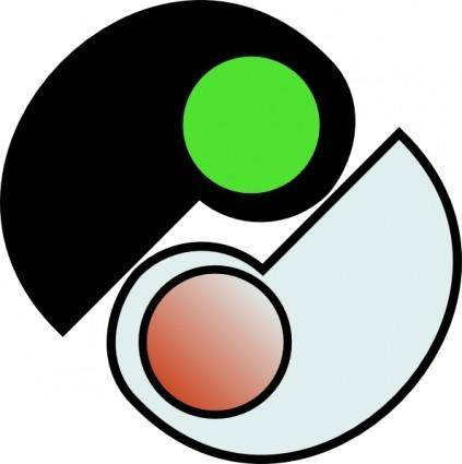 free vector One And Two Yin Yang clip art