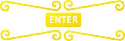 Enter Sign clip art