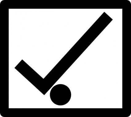 free vector Correct Direction Sign clip art