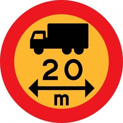 M Truck Sign clip art
