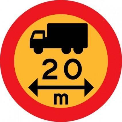 free vector M Truck Sign clip art