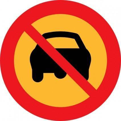 No Cars Sign clip art